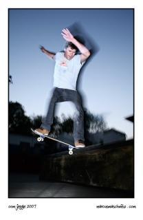 Rudi Jeggle skateboarding photographed by Marcus Maschwitz