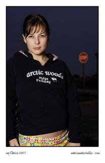 My fiance, Anja Pomeroy prettending to be a model photographed by Marcus Maschwitz