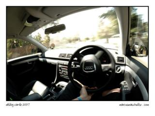 Driving in my car Carrie around town photographed by Marcus Maschwitz