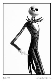 Jack skellington from a nightmare before Christmas photographed by Marcus Maschwitz