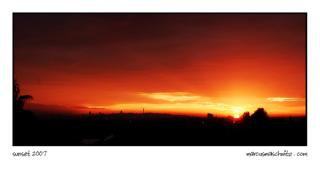 Sunset over Johannesburg Town the way it is seen from Edenvale photographed by Marcus Maschwitz