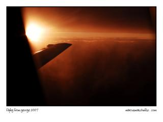 Flying with Nationwide Airlines from George to Johannesburg at Sunset on a Boeing 737500 photographed by Marcus Maschwitz 1