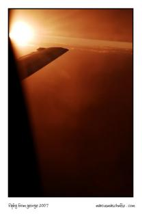 Flying with Nationwide Airlines from George to Johannesburg at Sunset on a Boeing 737500 photographed by Marcus Maschwitz 2