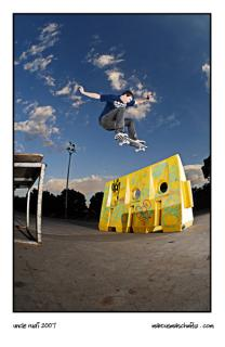 Rudi Jeggle skateboarding and portrait photographed by Marcus Maschwitz