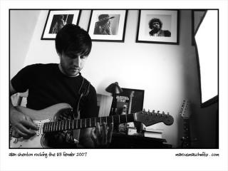 Alan Shenton playing a 1963 Fender Stratocaster original guitar photographed by Marcus Maschwitz