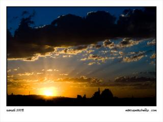 A Cloudy Sunset Over Johannesburg photographed by Marcus Maschwitz