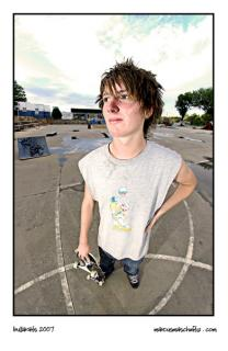 Seth Campbell portrait at skateworld photographed by Marcus Maschwitz