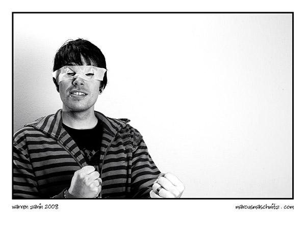 Portrait of Warren Zanin acting like a retarded super hero photographed by Marcus Maschwitz