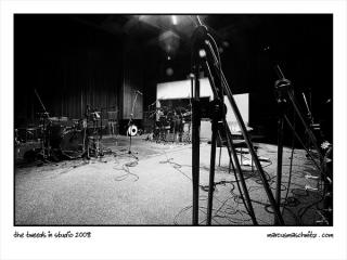 Harris Tweed in studio recording their new album photographed by Marcus Maschwitz