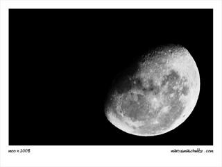The moon is looking good tonight photographed by Marcus Maschwitz