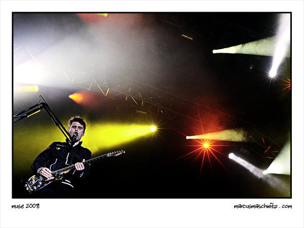 Muse performing live in Johannesburg South Africa photographed by Marcus Maschwitz