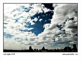 the johannesburg skyline at mid day on a cold day photographed by marcus maschwitz