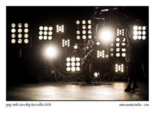 Greg Carlin of Zebra and Giraffe filming his first video for the song the knife photographed by marcus maschwitz