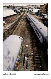 Trains and Railway lines in Newtown Johannesburg photographed by Marcus Maschwitz