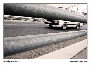 Shooting session with Rudi Jeggle at Nelson Mandela Bridge in Newtown photographed by Marcus Maschwitz
