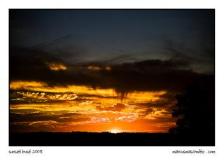 Sunset as seen across the freeway in midrand photographed by marcus maschwitz