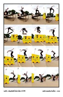 skateworld kickflip front board sequence photographed by marcus maschwitz