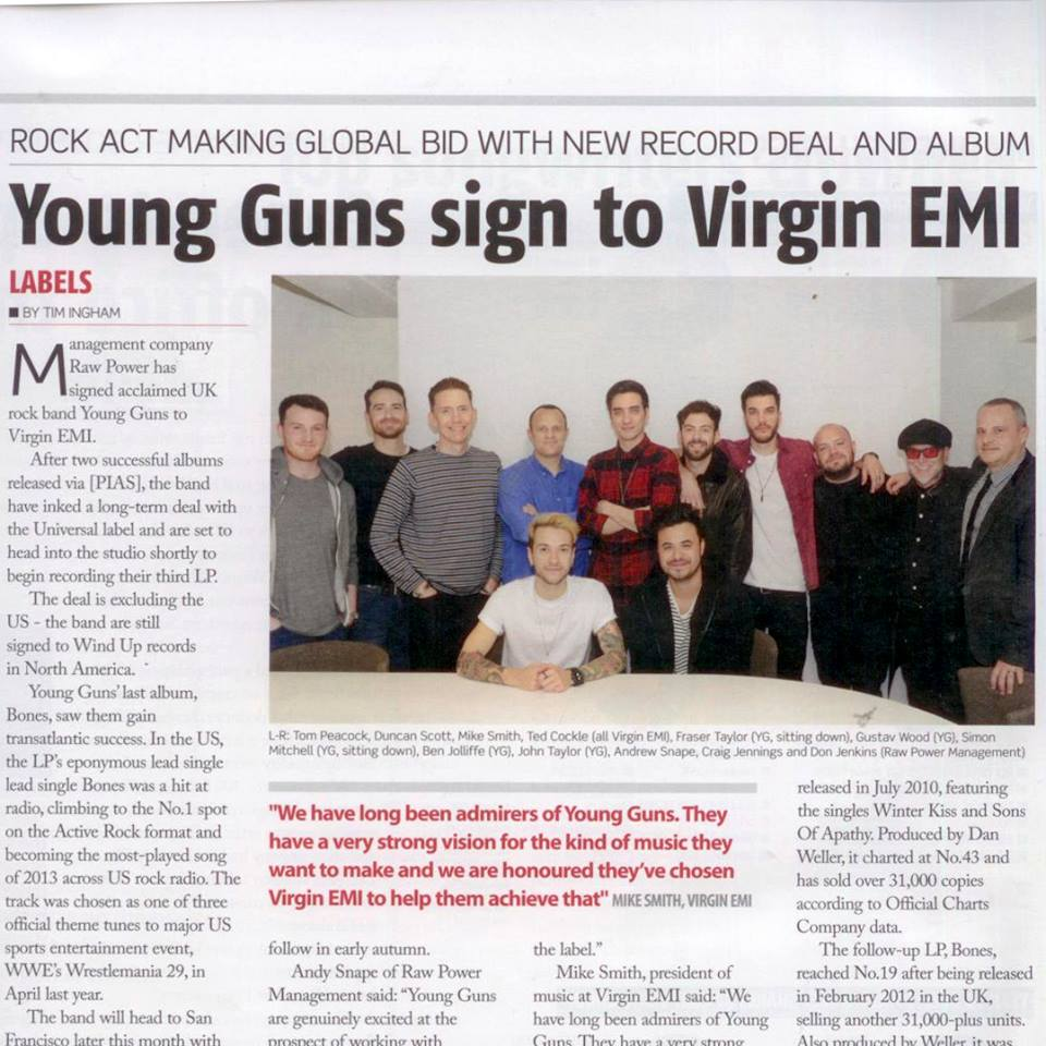 Young-Guns-Virgin-EMI-Signing