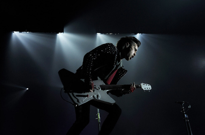 Jared Leto of 30 Seconds To Mars photographed live on stage by Marcus Maschwitz