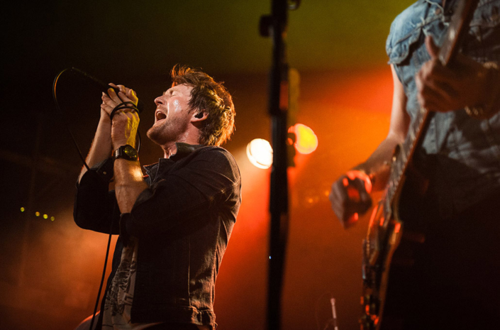 Stephen Christian of Anberlin photographed live on stage by Marcus Maschwitz