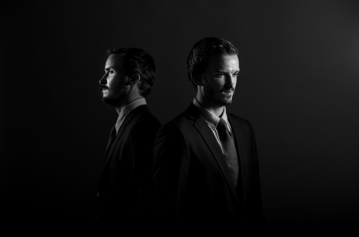 Banyard Brothers photographed as a duo for music promo by Marcus Maschwitz