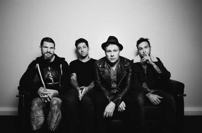 Fall Out Boy band photograph taken for music promo by Marcus Maschwitz