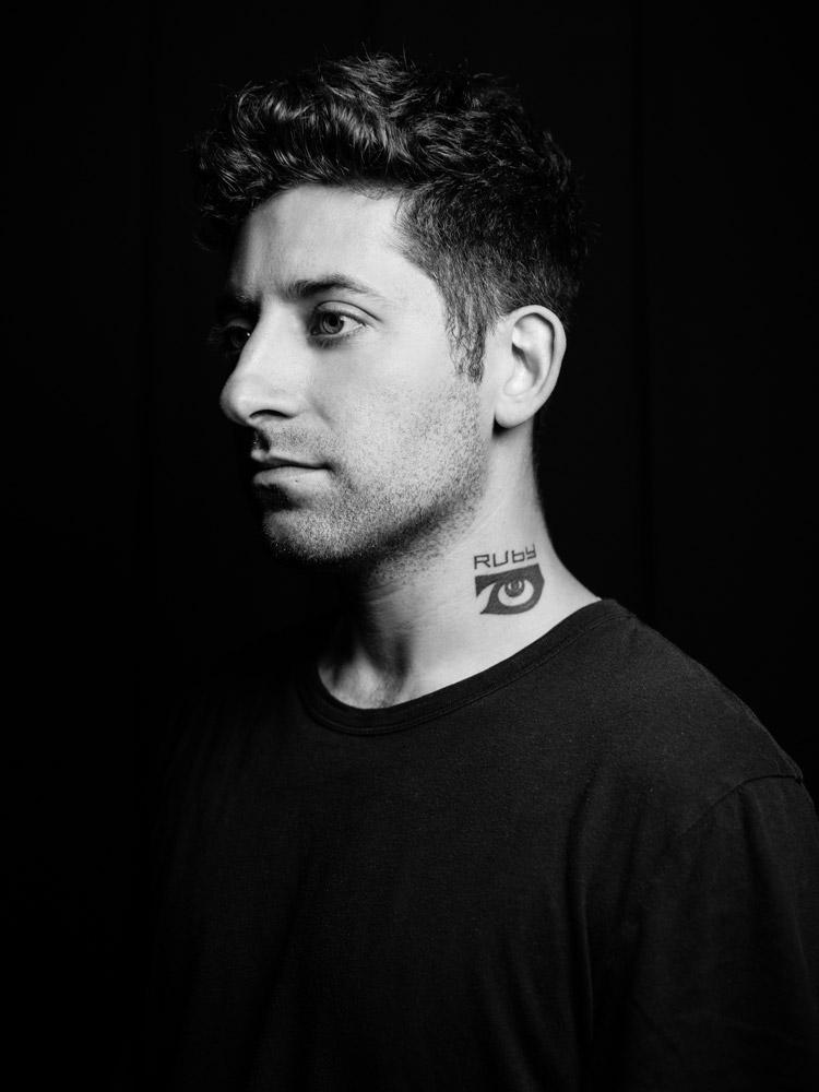 Joe Trohman of Fall Out Boy portrait photograph by Marcus Maschwitz