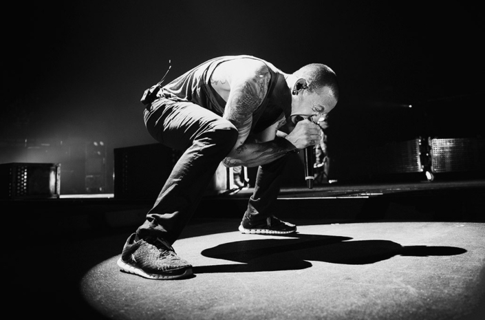 Chester Bennington of Linkin Park (RIP) photographed performing live on stage by Marcus Maschwitz