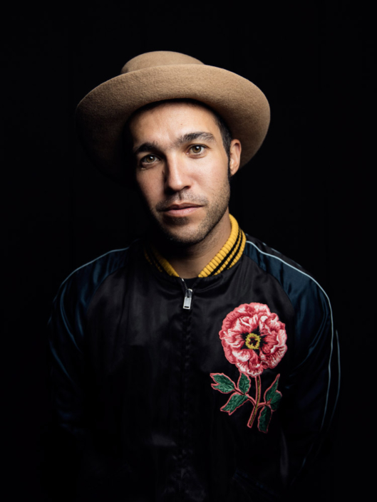 Pete Wentz of Fall Out Boy photographed for Rocksound music magazine by Marcus Maschwitz