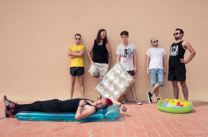 The Blackout photographed in Ibiza for press of their new album by Marcus Maschwitz