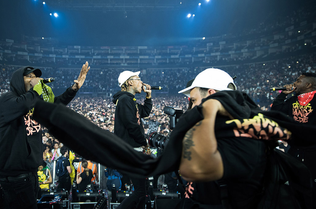 Wiz Khalifa and Taylor Gang photographed live by Marcus Maschwitz