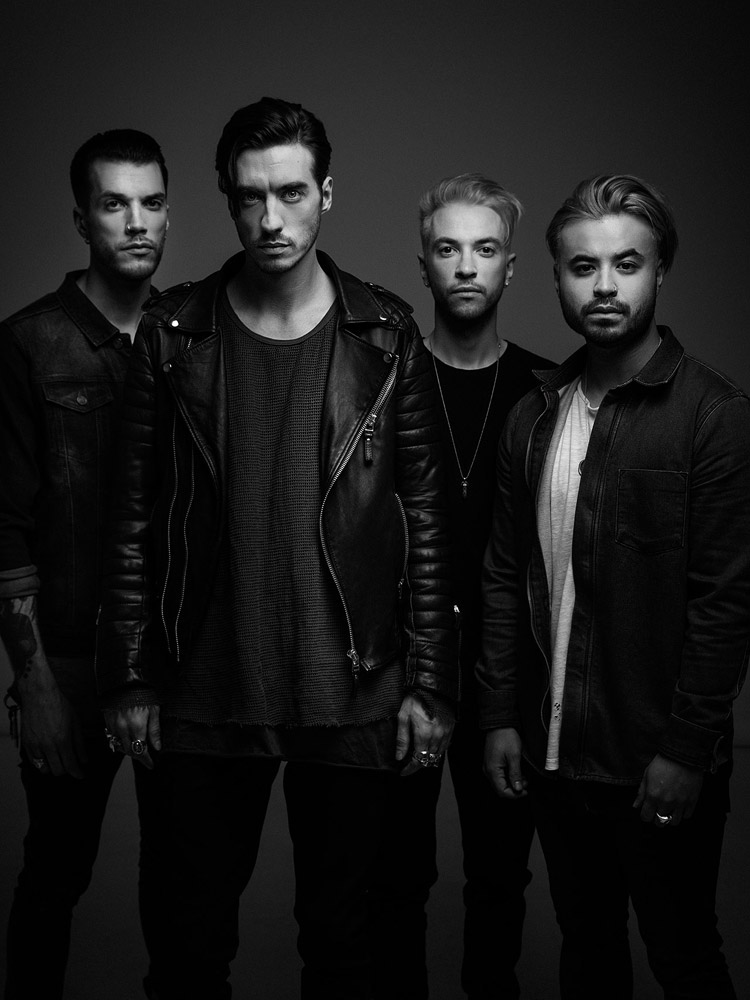Young Guns band press photograph by Marcus Maschwitz