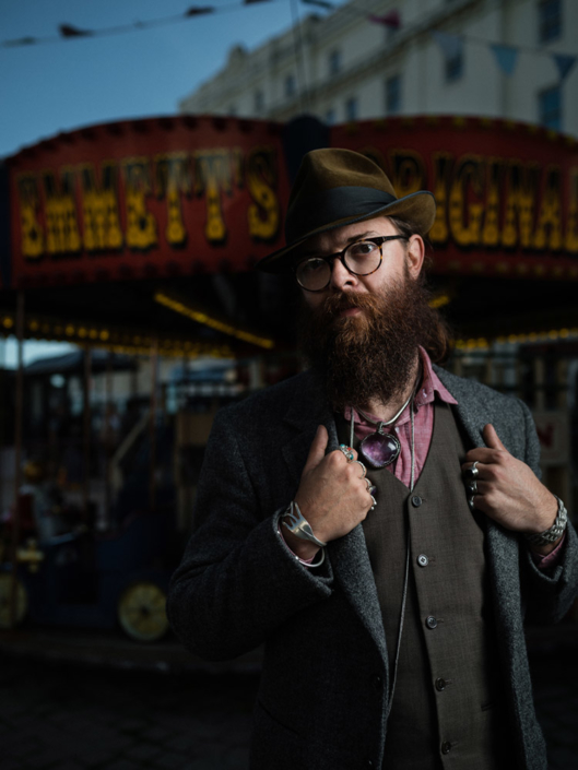 Emmett vintage carousel owner portrait photographed by Marcus Maschwitz