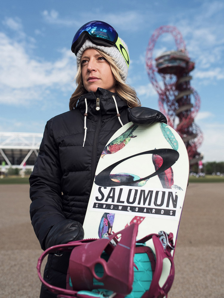 Jenny Jones olympic gold medalist snowboarder portrait photographed by Marcus Maschwitz