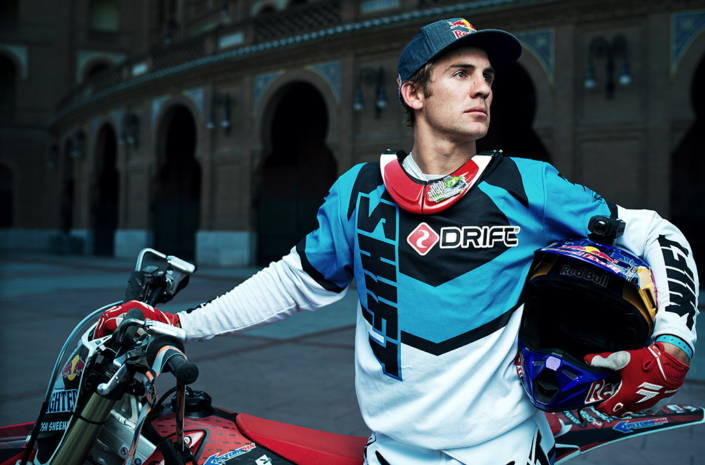 Josh Sheehan freestyle motocross rider portrait photographed by Marcus Maschwitz