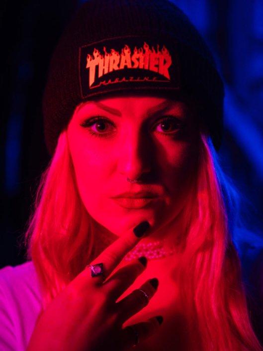 Megan Vendetta vocalist portrait photographed by Marcus Maschwitz