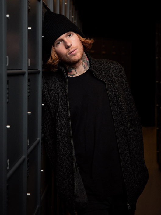 Alan Ashby guitarist portrait photographed by Marcus Maschwitz