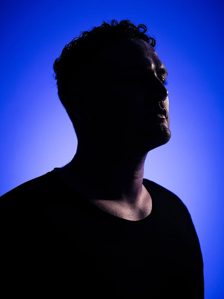 Sam Whitmore DJ portrait photographed by Marcus Maschwitz