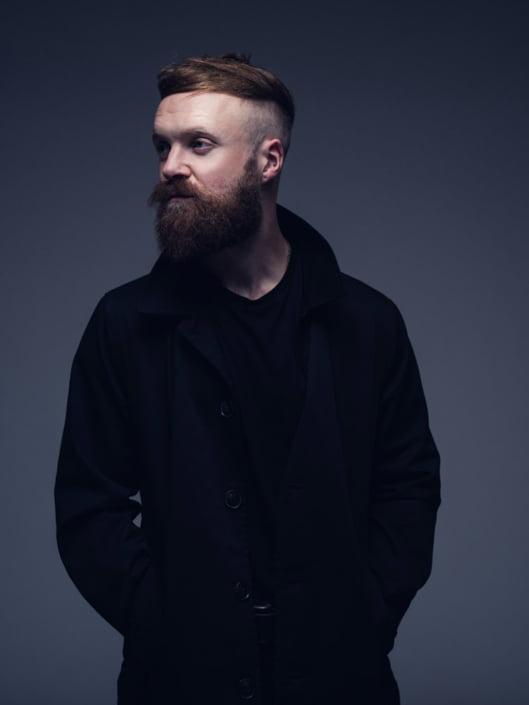 Simon De Laney guitarist portrait photographed by Marcus Maschwitz