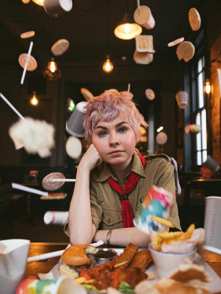 Sydney Rae White singer portrait photographed by Marcus Maschwitz