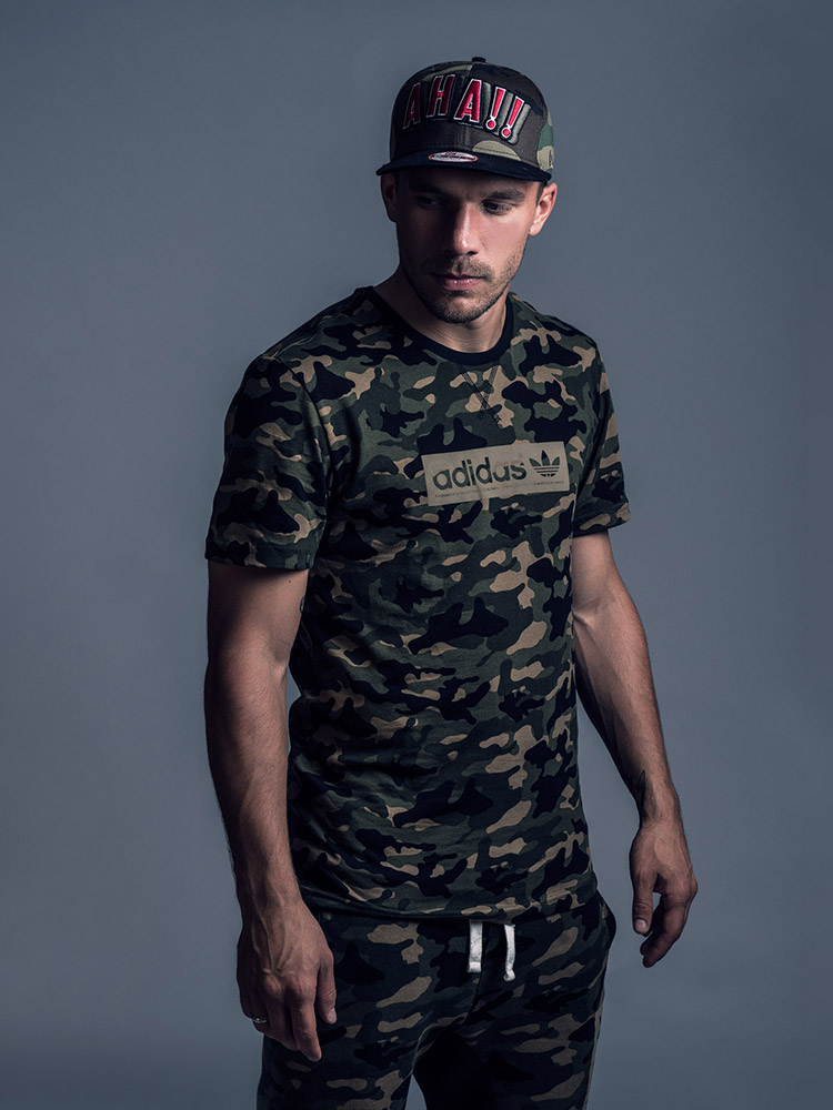 Lucas Podolski footballer portrait photographed by Marcus Maschwitz