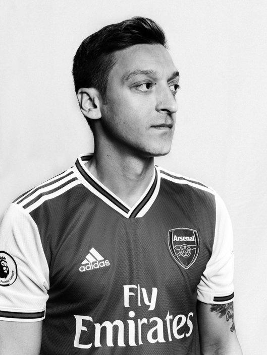 Mesut Özil football player portrait photographed by Marcus Maschwitz