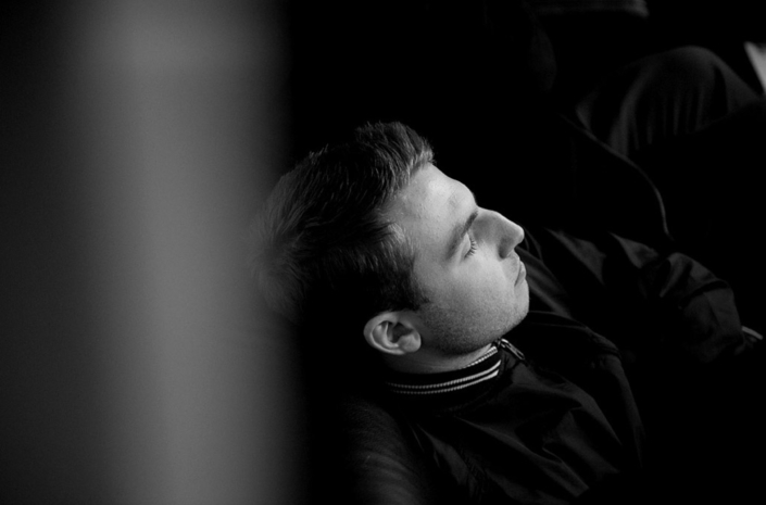 Liam Patrick of We Are The Ocean taking a nap photographed by Marcus Maschwitz