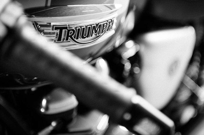 Triumph detail on the Ace 904s Thruxton Special photographed by Marcus Maschwitz