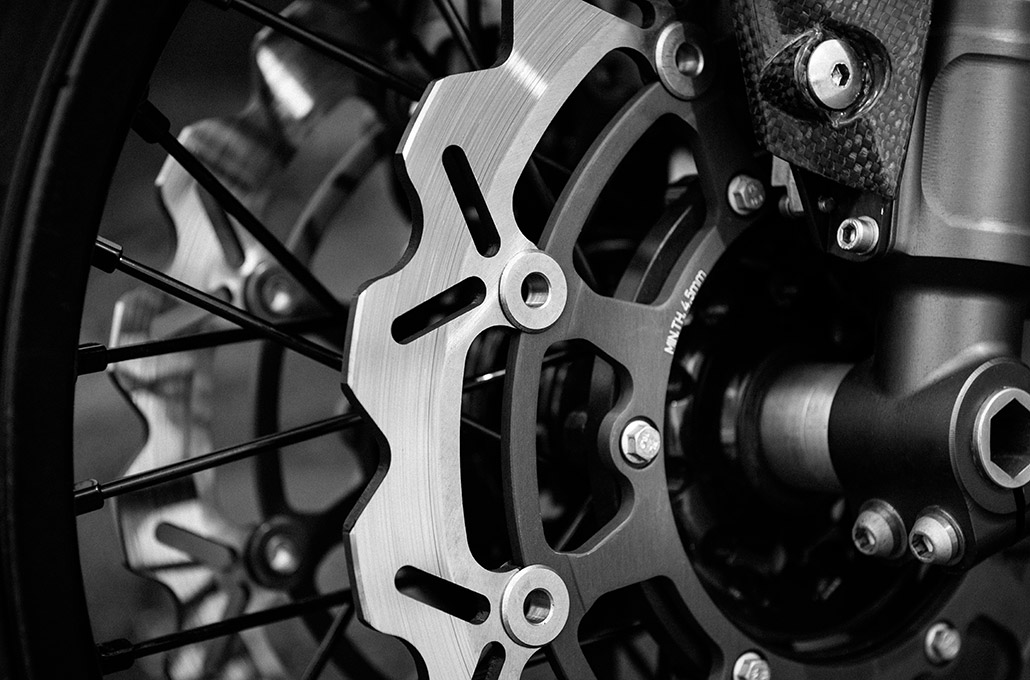 Brake detail on the Ace 904s Thruxton Special photographed by Marcus Maschwitz