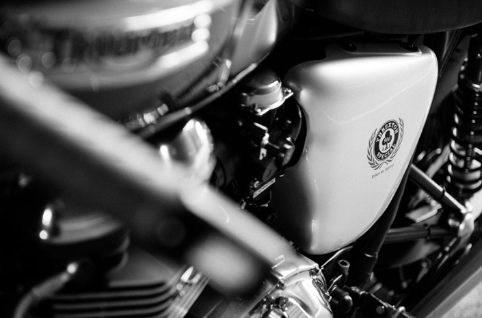 Engine details on the Ace 904s Thruxton Special photographed by Marcus Maschwitz