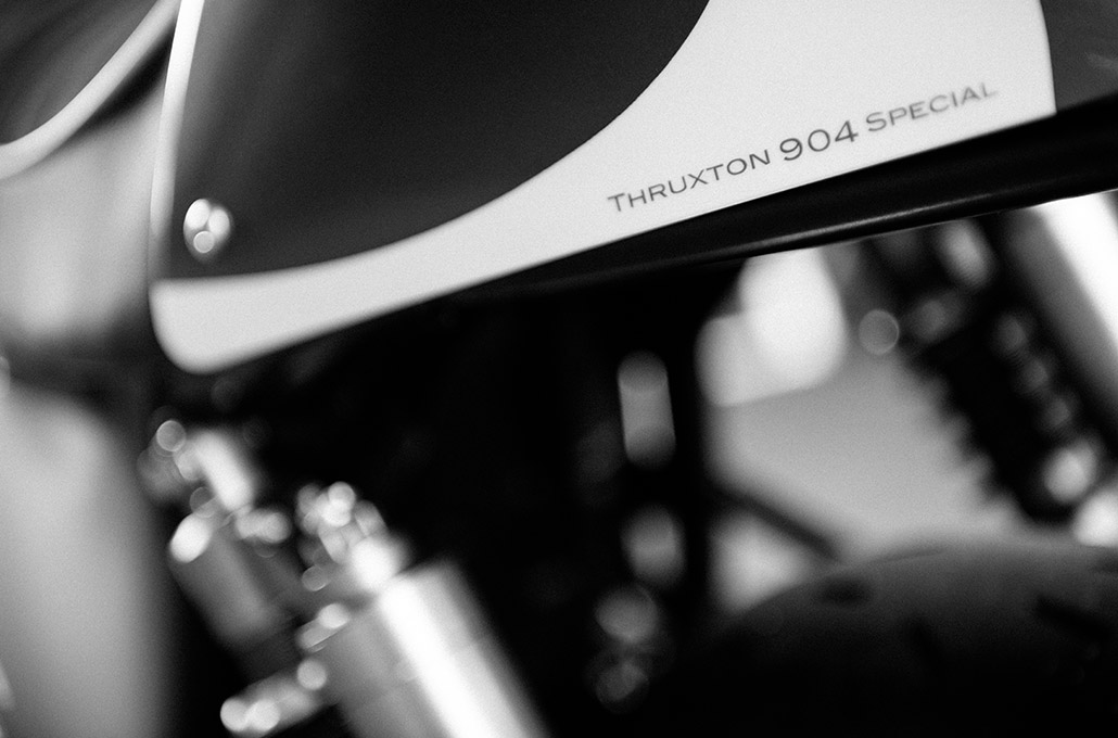 Tail detail on the Ace 904s Thruxton Special photographed by Marcus Maschwitz
