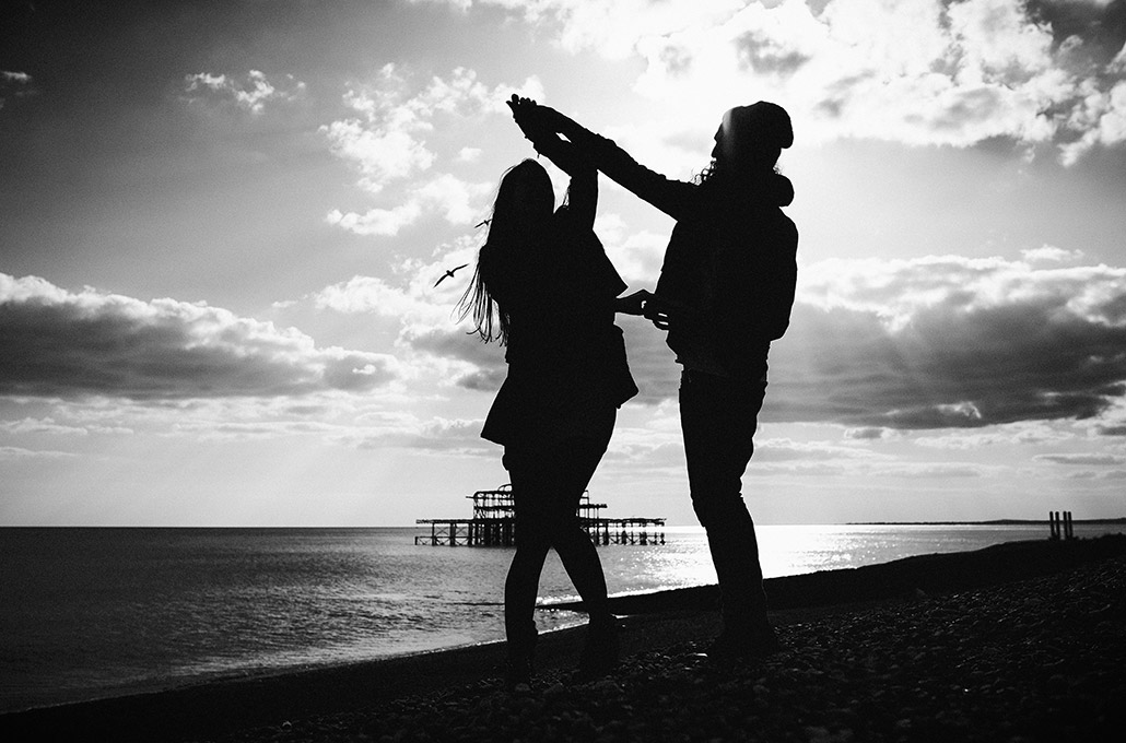 Silhouette dancing in Brighton photographed by Marcus Maschwitz