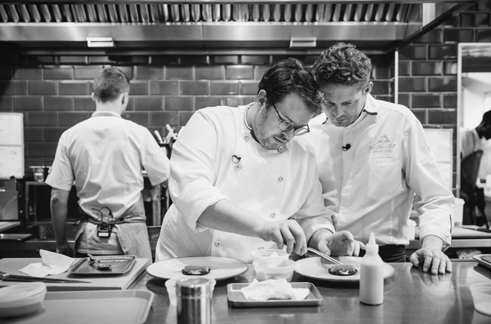 Chefs cooking at The Clove Club photographed by Marcus Maschwitz