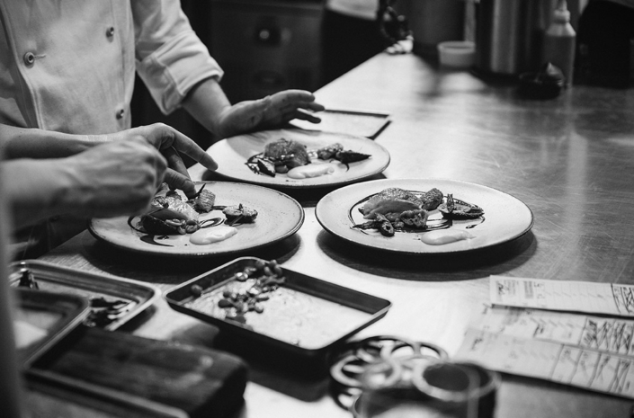 Food at The Clove Club photographed by Marcus Maschwitz